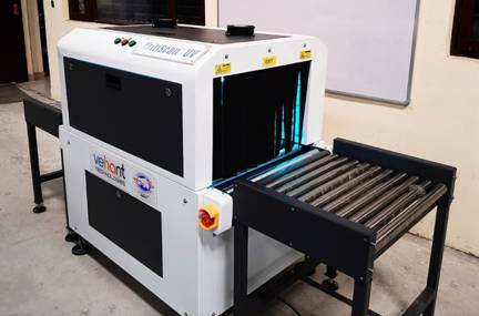 Developed UV system for disinfection of goods during travel