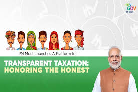 Prime Minister Narendra Modi launched 'Transparent Taxation - Honor of Honor' portal