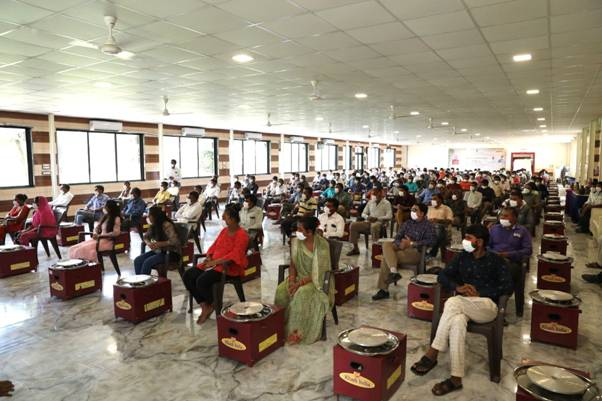 200 trained potters from 20 villages of Gandhinagar with chalk