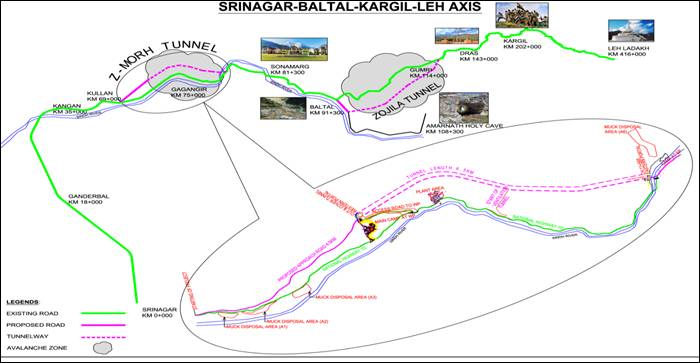 Work on Asia's longest tunnel road, Zozilla tunnel, started