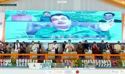 Gadkari lays foundation stone for country's first multi-model logistics park in Assam