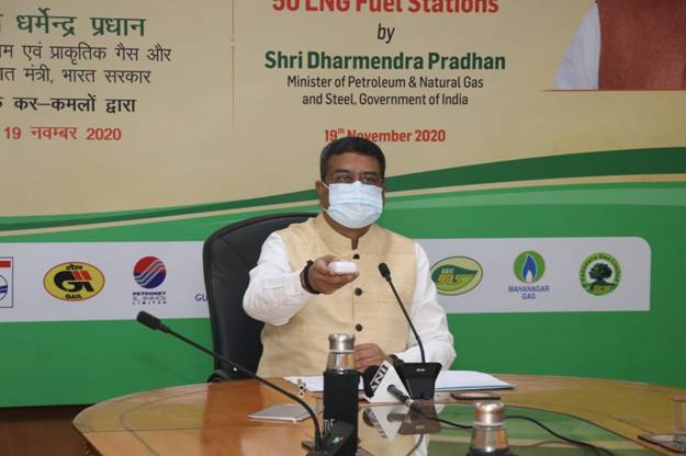 1000 LNG stations to be set up in next three years