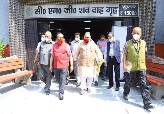 Four cremations of the Green crematorium, 'Air Pollution Control System for Crematoria' inaugurated